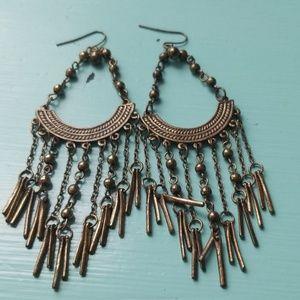 Funky dangle earrings